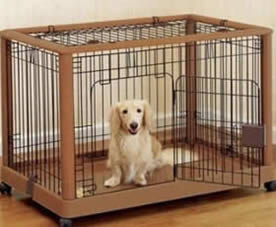 Application: welded dog cages