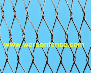 stainless steel knotted cable mesh